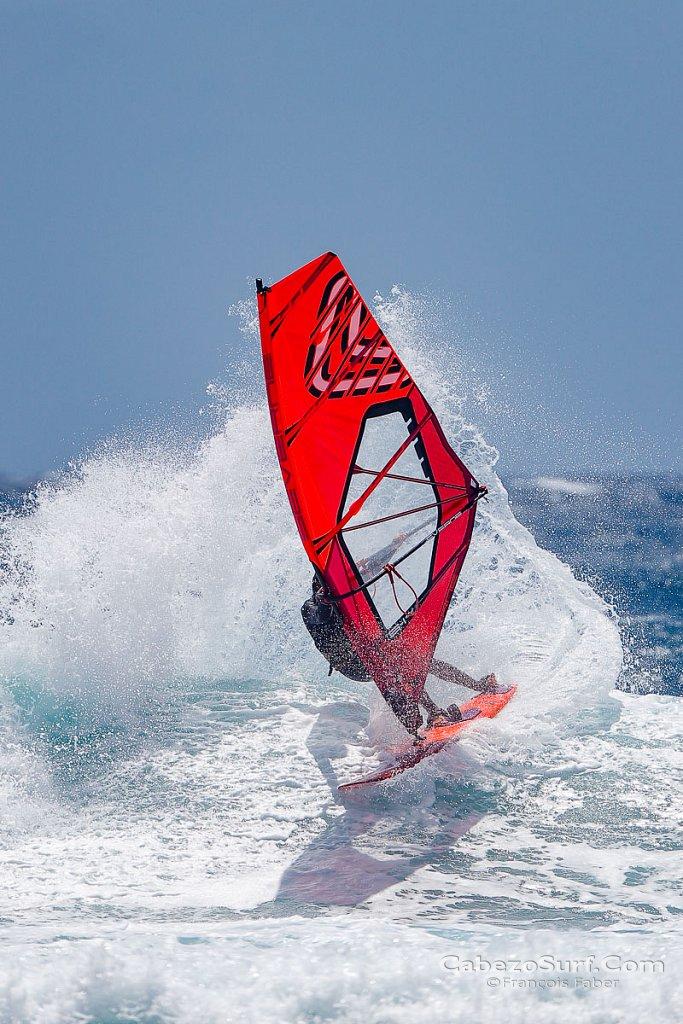 Windsurfing at El Cabezo, El Medano